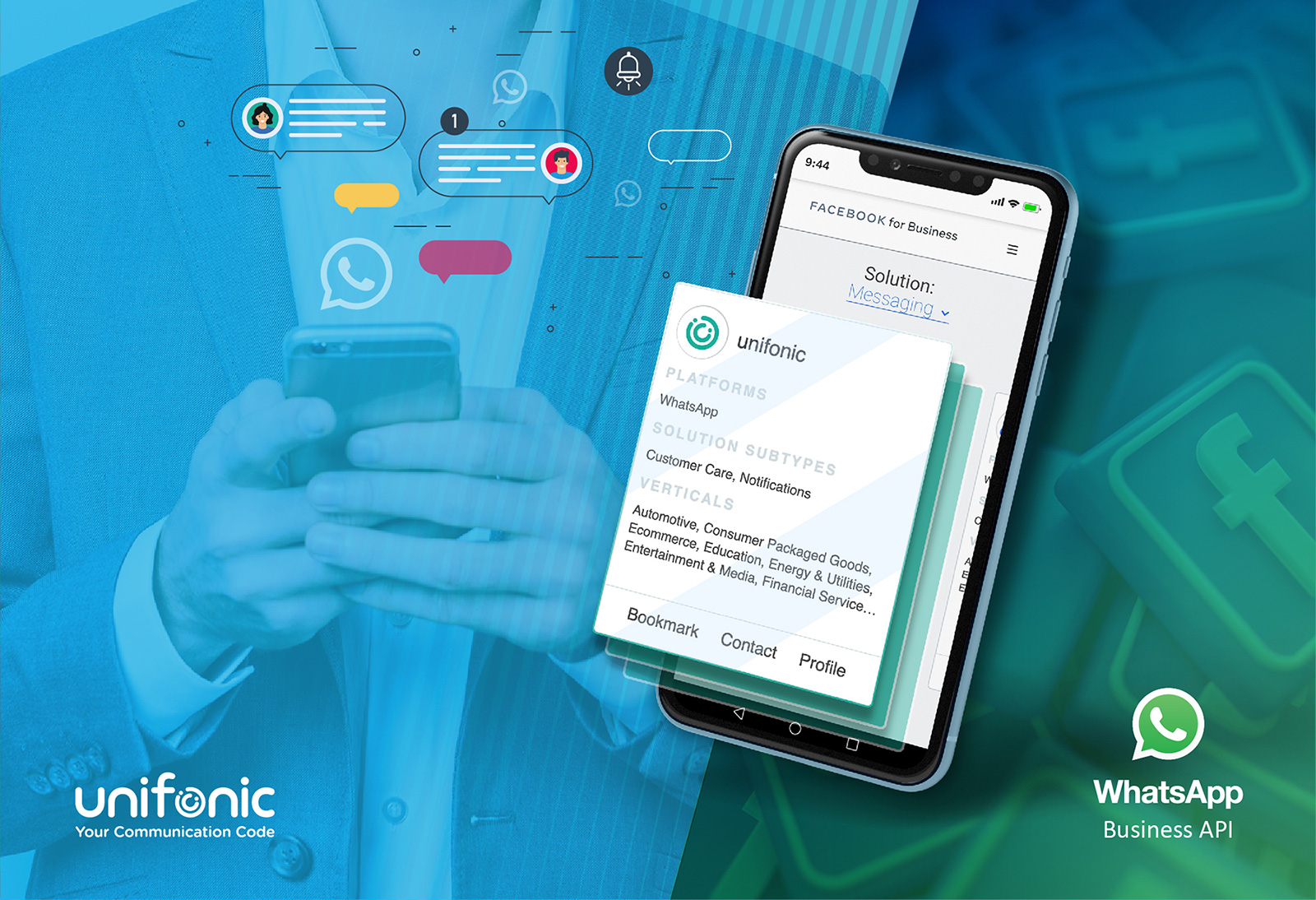 Unifonic is selected as WhatsApp Business Solution Provider